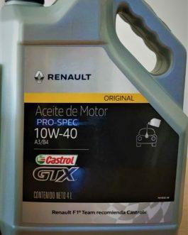 ACEITE CASTROL RENAULT 10W40 BIDÓN 4 LITROS